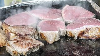 London Street Food at Greenwich Market. Huge Steaks, Thai Food, Japanese Tempura and Much More