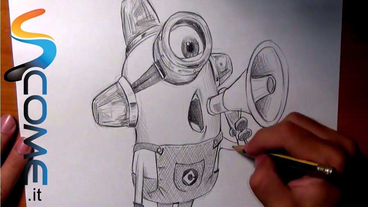 Guarda come disegnare il minion ambulanza di cattivissimo for Minions immagini da colorare