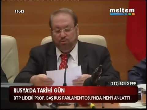 Prof. Dr. Haydar Baş, Rusya Parlamentosu Duma#39;da MEM#39;i Anl