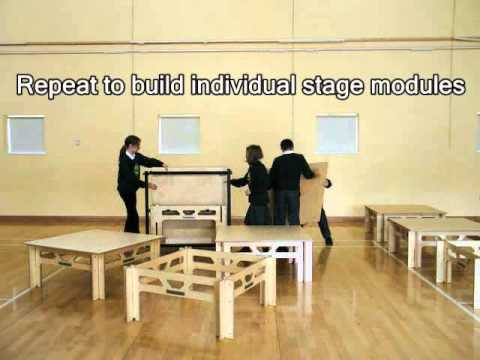 Portable Stage Blocks Schools, Mobile Staging Systems - Stackastage