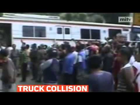 mitv - At least four people were killed and 72 injured, when a commuter train in Indonesia