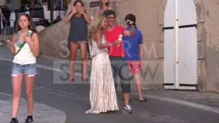 Sylvie Van Der Vaart Having An ICE CREAM In Saint Tropez