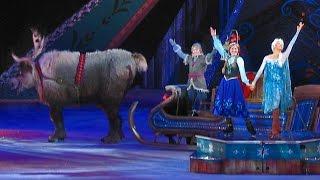 Frozen Disney on Ice show highlights with Anna, Elsa, Hans, Olaf, Sven, Kristoff skating