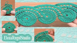 Crochet Lace Tape Pattern Tutorial 9 Part 1 Of 2 Lace