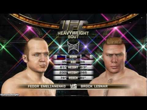 UFC Undisputed 3 'Fedor Emelianenko vs Brock Lesnar' TRUE-HD QUALITY