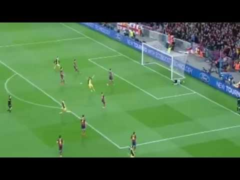 Diego Fantastic Goal 0-1 FC Barcelona vs Atletico Madrid | 1-4-2014 Champions League HD