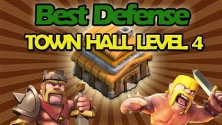 BEST Town Hall Level 4 Defense Strategy For Clash Of