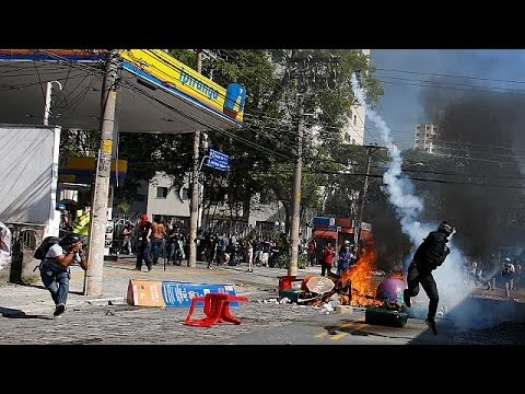 Protests clash with police in Brazil hours before World Cup kicks off