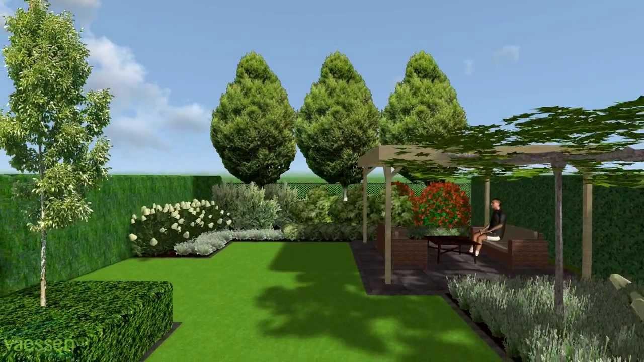 Herman vaessen 3d tuinontwerp strakke tuin met hagen en for 3d tuin ontwerpen