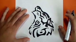 Como Dibujar Un Lobo Tribal Paso A Paso How To Draw A
