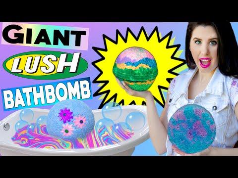 DIY GIANT Lush Bath Bomb! | How To Make The BIGGEST RAINBOW Bath Bomb In The World! | BIG BATH NUKE!