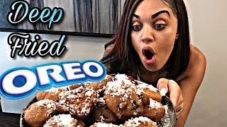 HOW TO MAKE FRIED OREOS   COOKING WITH THE PRINCE FAMILY (PART 20)