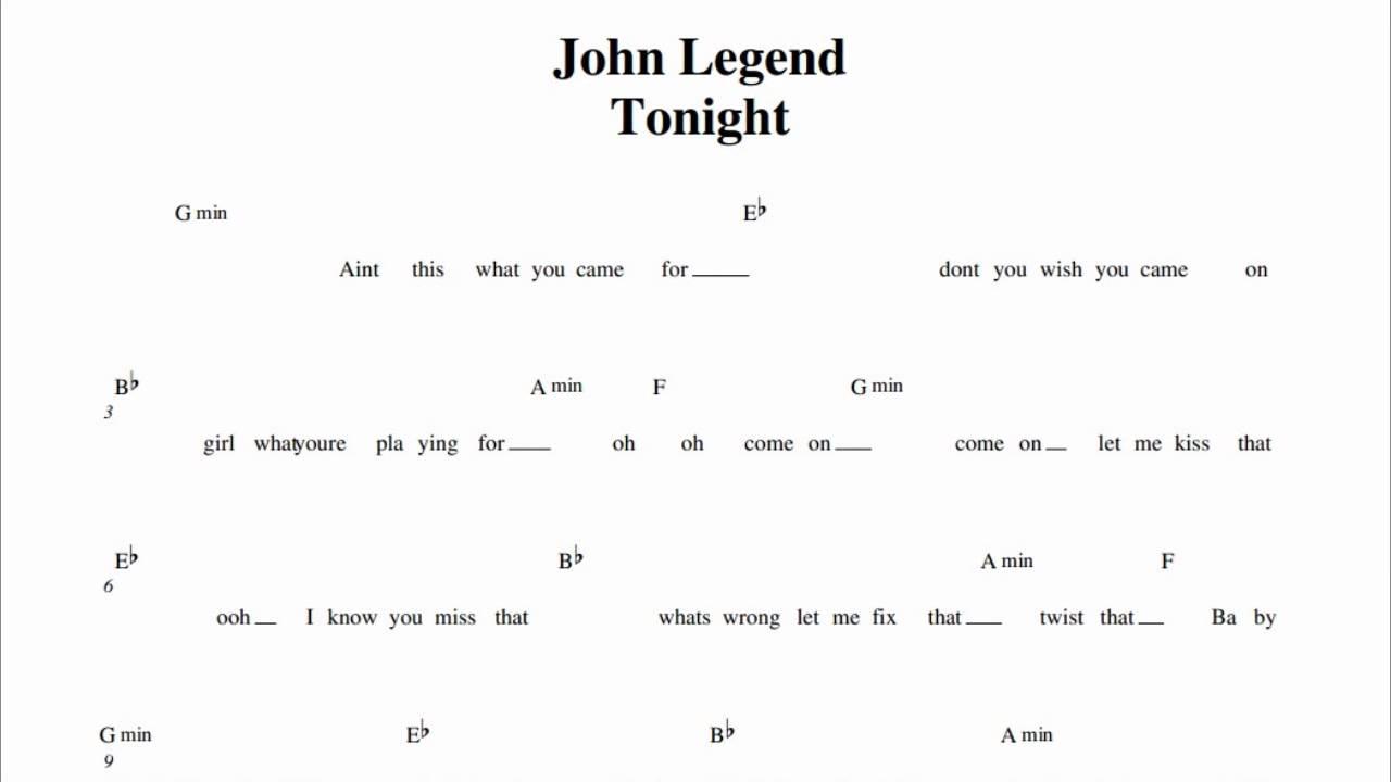 John Legend Chords Again