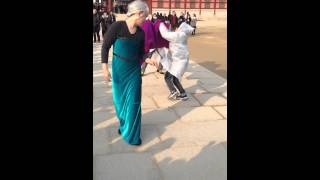Korean Parody Of Let It Go Performed Outside Palace Grounds