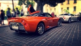 2x Spyker C8 Aileron - V8 sounds in Monaco!