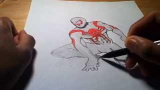 Drawing: Spiderman 2099