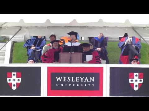 Joss Whedon Addresses 181st (2013) Wesleyan University Commencement