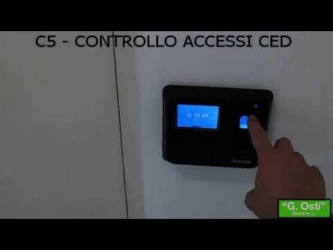 C5 controllo accessi biometrico/Rfid sala CED e uffici
