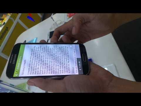 Trải nghiệm Galaxy S4 đầu tiên tại Viễn Thông A