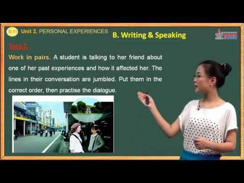 Bài giảng Tiếng anh lớp 11 - Personal  Experience - Writing & Speaking - Cadasa.vn