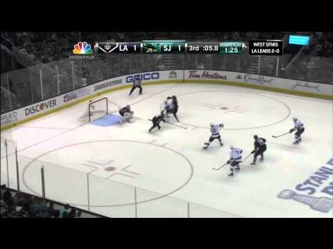 Last 1.5 mins of regulation May 18 2013 LA Kings vs SJ Sharks NHL Hockey