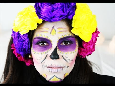 MAKE UP HALLOWEEN CAVEIRA MEXICANA /DIA DE MUERTOS SUGAR SKULL TUTORIAL / CATRINA