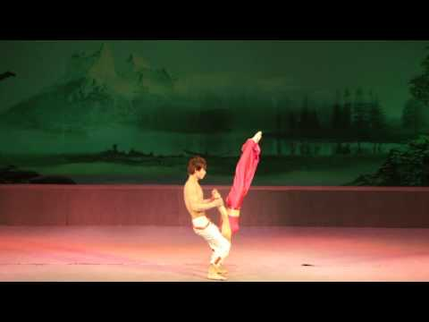 duo acrobats (boy and girl)