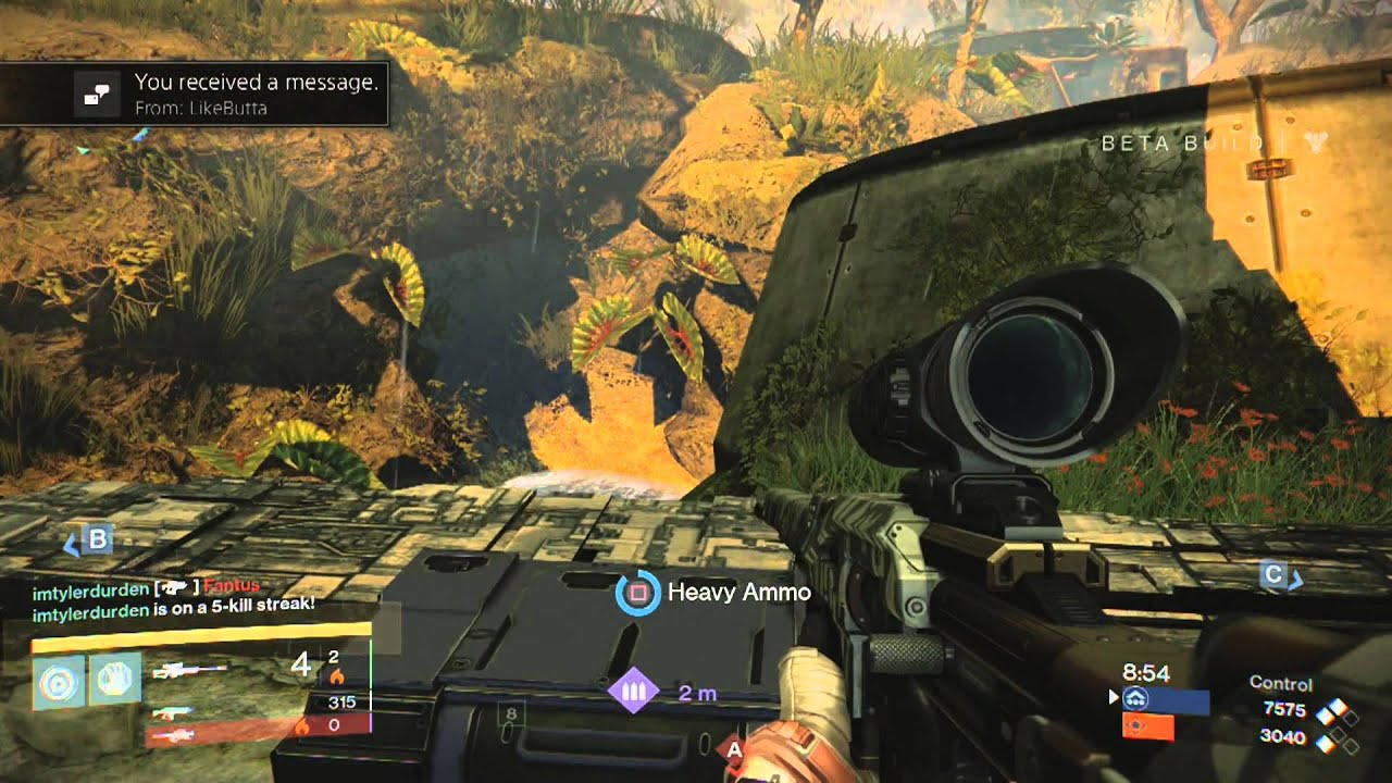 Destiny beta warlock gameplay on shores of time 22 kills 1 death