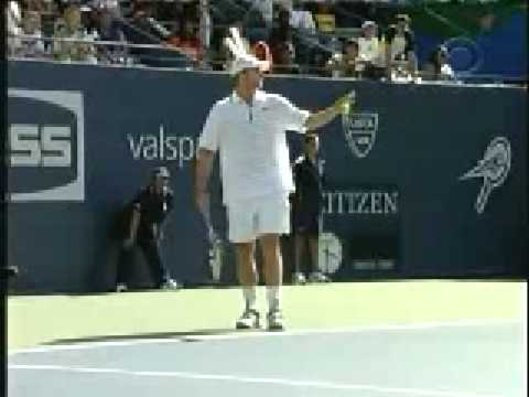 Andy Roddick and Novak Djokovic impersonate one another.ha ha