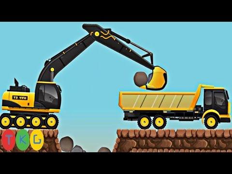 Lắp ráp Xe xúc đất, Máy ủi đất, Xe cần cẩu, Xe tải 2 | Kids Pluzzle CONSTRUCTION CITY 2 | TKG