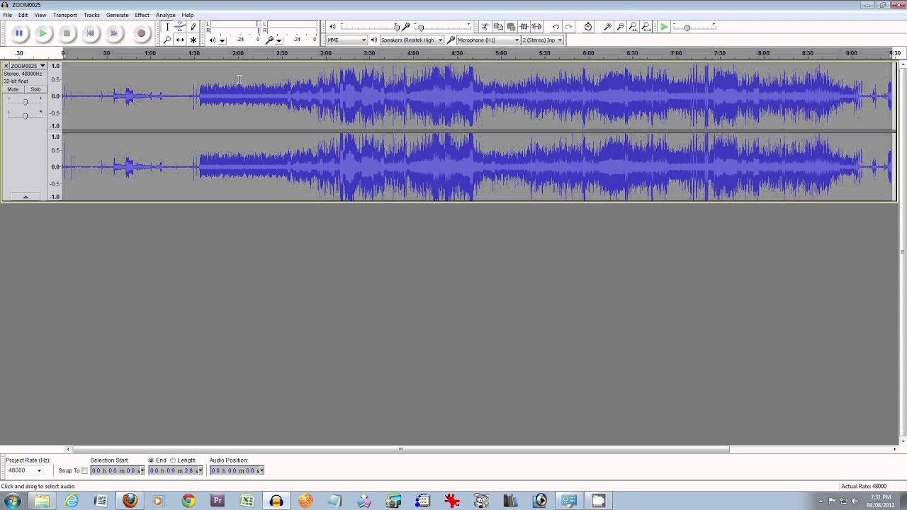 how to make your audio sound wamer in audacity