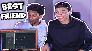 My BEST FRIEND Tries Making A Beat From Scratch!! | Fl Studio 12 Beat Making