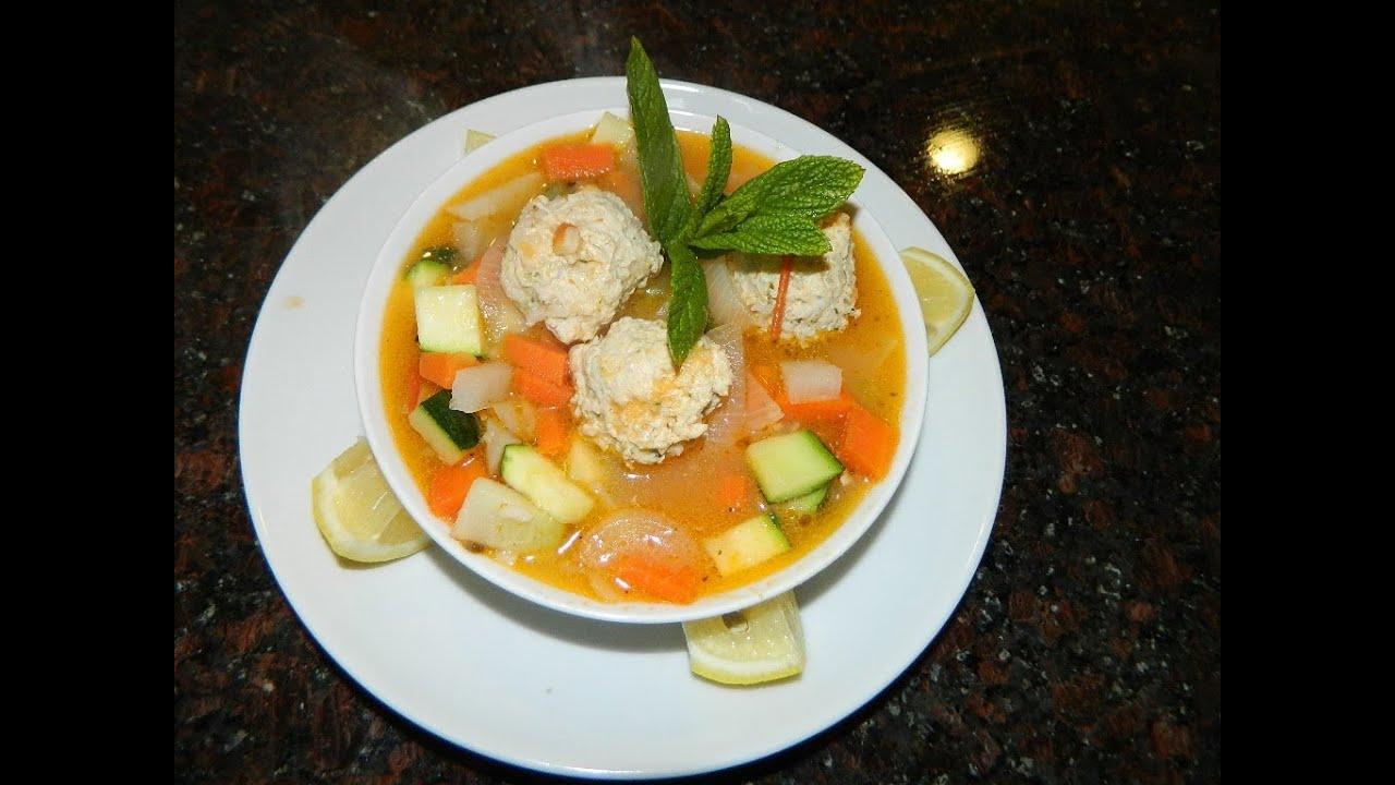 Receta caldo de albondigas de pollo con verduras youtube - Albondigas de verdura ...