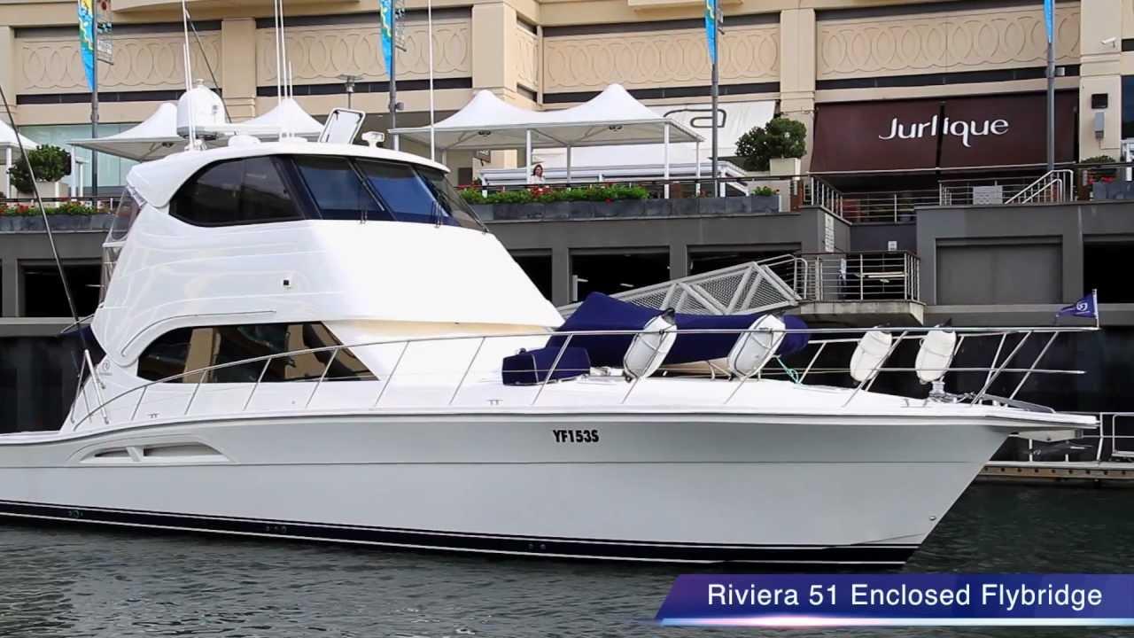 Riviera 51 Enclosed Flybridge Luxury Cruiser 39Destiny39 For Sale  You