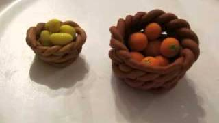 "How To Make A Polymer Clay ""wicker"" Basket"