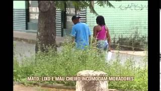 Pra�a na Regi�o do Barreiro est� tomada de mato e lixo