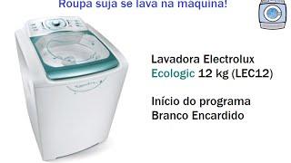 Lavadora Electrolux Ecologic 12kg (LEC12) Início Do