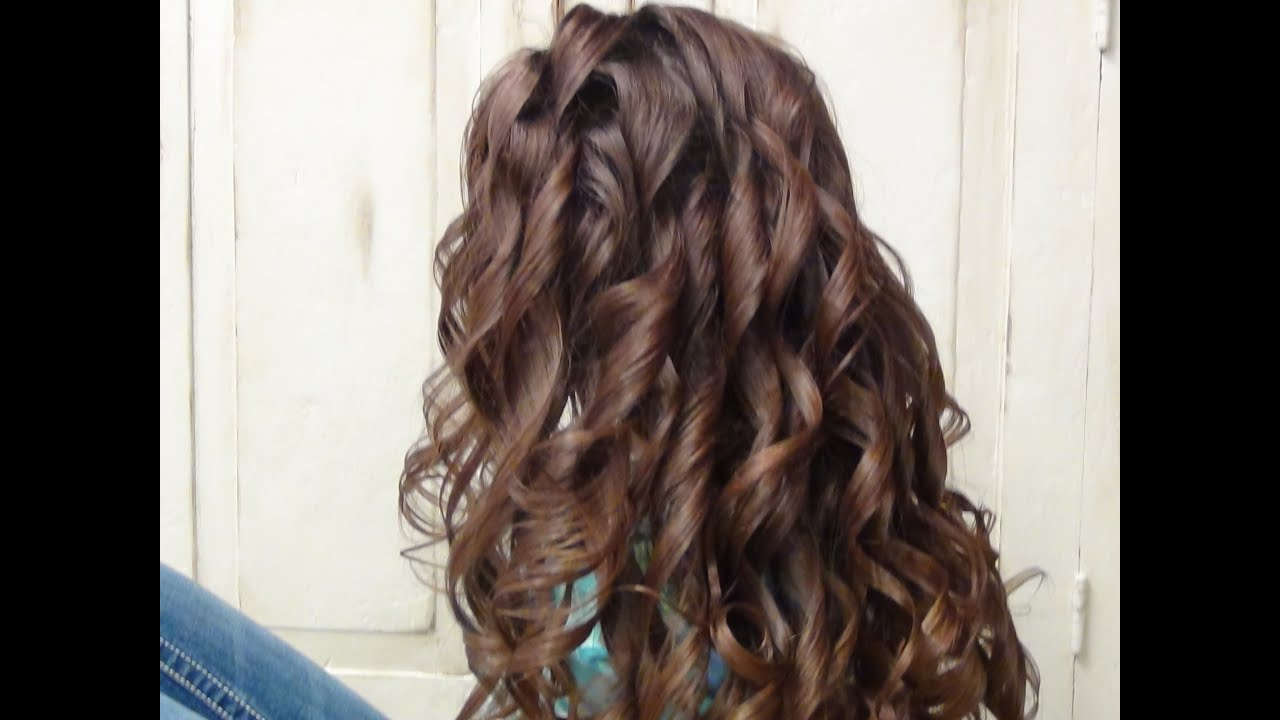 How to Curl Long Hair with a Curling Iron | Hairstyles - YouTube