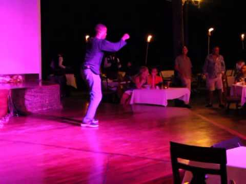Performing at Sandals Negril in Montego Bay, Jamaica