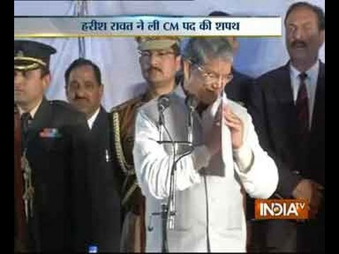 Harish Rawat sworn in Uttarakhand Chief Minister