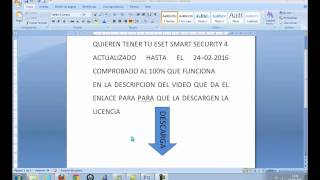 Licencia Eset Smart Security 4 Hasta El 24-02-2016