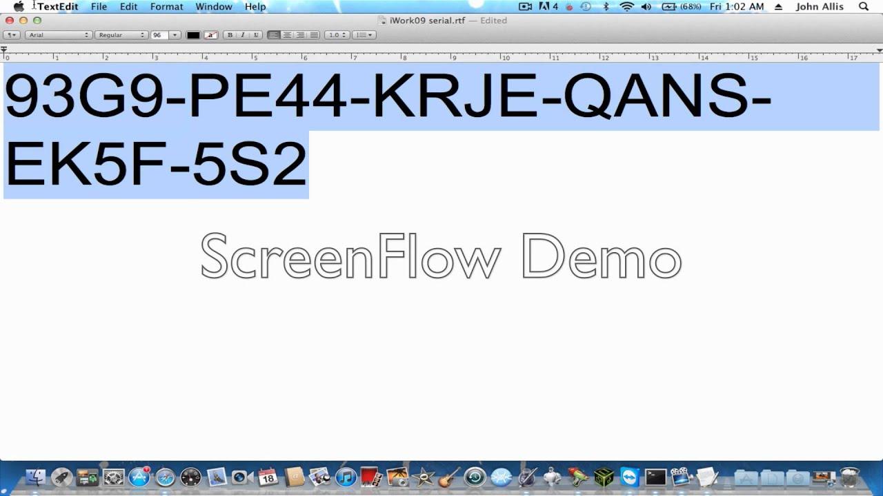 Iwork Serial Number