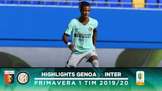 GENOA 4-3 INTER | PRIMAVERA HIGHLIGHTS | A fantastic performance from Thomas Schirò is not enough!