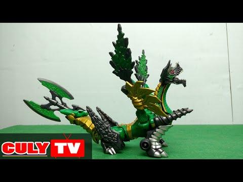siêu nhân phép thuật biến hình rồng xanh Power Rangers Mystic Force GREEN MINOTAURUS DRAGON RANGER