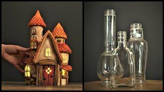 Hacer una casa con frascos y cartón