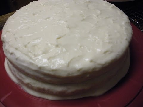 Almond Layered Cake with White Chocolate Frosting