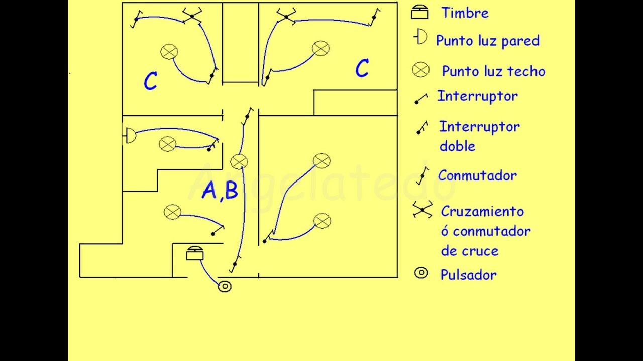 C mo se conectan los mecanismos y puntos de luz en una - Conmutador de luz ...