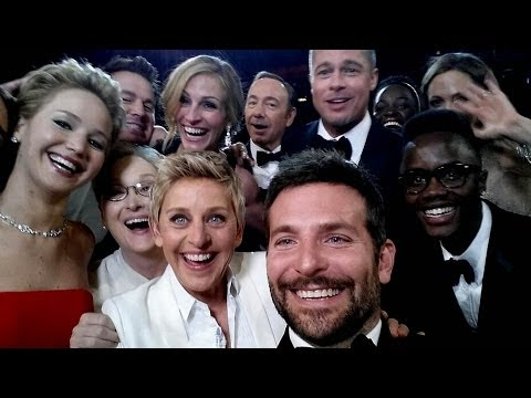 Ellen's Epic Star-Studded Selfie with Jennifer Lawrence, Meryl Streep & More Oscars 2014