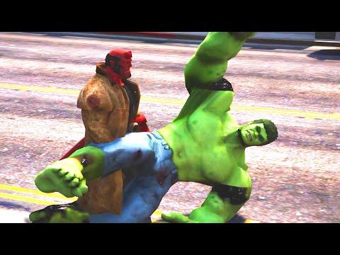 Hellboy VS Hulk Epic Battle | Grand Theft Auto V