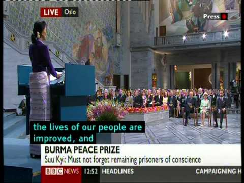 Aung San Suu Kyi's Nobel Peace Prize acceptance speech (Part-2)
